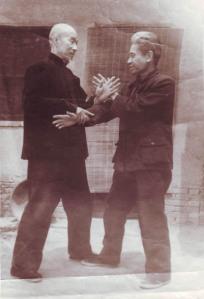 Zheng Wuqing pushing hands with his disciple Gao Feng