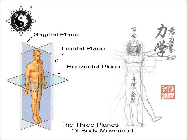Typically clear diagram of 3 Planes of Movement in I Lik Chuan (from excellent website, www.fallingleaveskungfu.com)