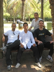 Nitzan with Zhou and gongfu brothers