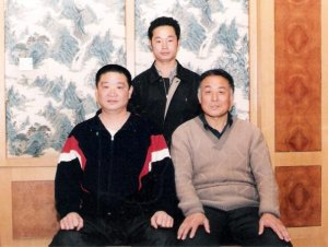 Zhou shifu with his baji teachers Shen Jiarui (R), Sun Zhenyao (L)